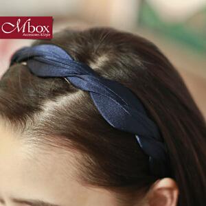新年礼物Mbox发箍 女款韩国版时尚简约设计发夹边夹顶夹头饰发饰 心灵依偎