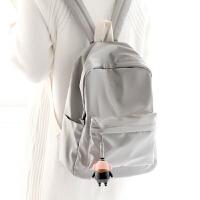 轻便纯色书包双肩包女韩版潮中学生休闲双肩小背包