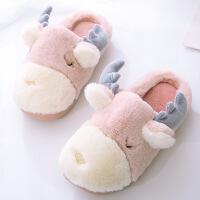 №【2019新款】冬天儿童穿的包跟棉拖鞋女童宝宝可爱毛绒1-3岁幼儿家居鞋棉鞋毛毛鞋