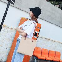 代代花枳女士包包女2017秋季新款韩版时尚单肩包女大包简约托特包百搭购物袋包包
