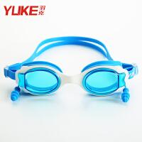 男童高清透明游泳眼镜女童宝宝游泳装备儿童泳镜戴耳塞