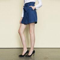【全场2件2.5折,到手价:49.8】美特斯邦威半身裙女夏装新款都市百搭牛仔半身裙短裙潮秋季上新
