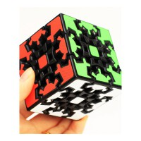 zucbe 3D立体齿轮魔方异形三阶齿轮 送复原教程玩具 抖音 黑色