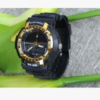 三达表新款手表低碳环保太阳能多功能户外运动防水双显示男女手表