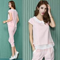 韩版修身时尚宽松休闲套装女大码运动服卫衣三件套潮