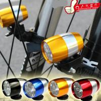 自行车夜骑高亮迷你型强光手电筒山地车前灯单车灯骑行装备配件