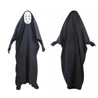 万圣节服装千与千寻无脸男演出衣服面具手套儿童