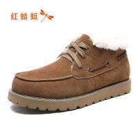 【开学季立减150】红蜻蜓男鞋冬季新款棉鞋时尚潮流系雪地靴长毛绒保暖棉鞋