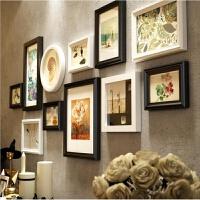 相框/照片墙实木相框墙欧式大组合客厅创意照片墙像框挂墙送画芯