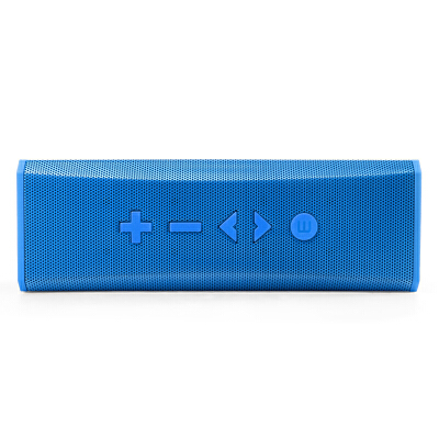 shockwave S20 蓝牙音箱 便携式双喇叭蓝牙数码音箱 可接听电话无线蓝牙音响 蓝色双声道立体免提通话智能语音提示插卡听歌