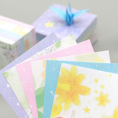 千纸鹤叠纸花纹纸彩色纸卡纸小号正方形印花折纸儿童手工折纸材料
