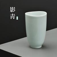 陶瓷水杯景德镇手工杯子纯色简约家用饮料杯喝水杯牛奶杯果汁杯
