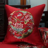 新中式红木座椅垫实木家居沙发垫罗汉床整套坐垫抱枕靠垫可拆