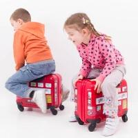 欧美可坐可骑儿童拉杆箱16寸万向轮女童男孩宝宝行李箱旅行箱 16寸【撕膜以后贴图案哦】