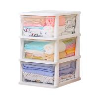 树脂收纳柜 塑料储物柜抽屉式收纳箱儿童玩具衣柜 3层1组 3个