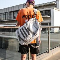 学生双肩包男旅行背包潮牌时尚潮流校园bf风书包单肩包运动斜挎包