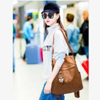 韩版女士双肩包2018新款夏季百搭旅行背包软皮多功能大学生书包潮