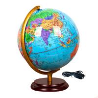 地球仪摆件 大号直径32cm高清发光学生教学用地球仪led台灯 办公室摆件 32cm地球仪