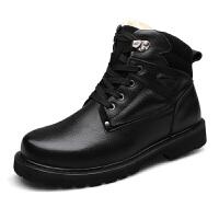 冬季高帮棉鞋男大码鞋48码男士真皮牛皮马丁靴
