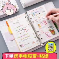 韩国小清新创意手账本可爱彩页活页手帐 插画手绘日记本笔记本子