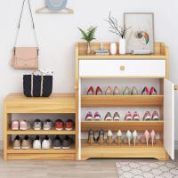 【限时7折】鞋柜玄关柜家用门口大容量鞋架简约现代阳台储物柜子北欧带换鞋凳