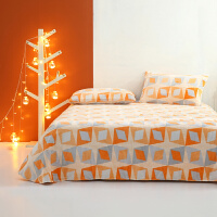 水星家纺 秋冬暖绒床单单件亲肤法兰绒床单 床上用品