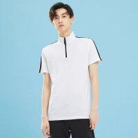 美特斯邦威2018夏新款撞色T恤短袖衬衫男休闲修身纯棉POLO衫潮