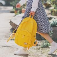 韩版校园时尚百搭纯色双肩包日韩新款休闲糖果学院风学生背包