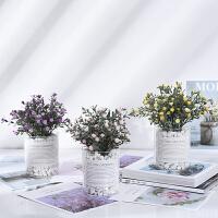 仿真植物假草盆栽摆件设北欧ins绿植盆景客厅室内装饰满天星小花