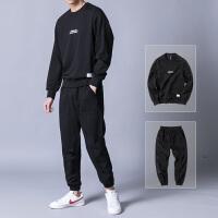 卫衣套装春秋季男士圆领运动休闲套头两件套跑步潮流宽松运动服