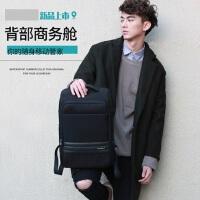 休闲商务电脑包旅行包 校园潮高中学生书包 韩版男士背包双肩包男