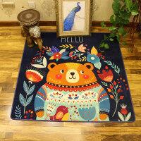 卡通儿童地毯客厅房间地毯卧室满铺榻榻米床边毯吊篮垫电脑椅地垫