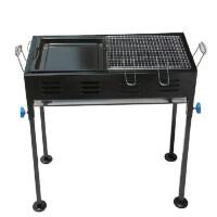烧烤炉户外便携 家用木炭 大码 带炸煎盘 5人以上烧烤架