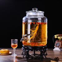 大号广口泡酒玻璃瓶带龙头 人参酒瓶泡酒瓶酒桶酒罐酒坛子密封罐