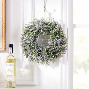 奇居良品 zakka风壁挂门头墙面装饰花环 仿真花环假花壁挂 圣诞装饰品