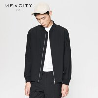 【2件2.5到手价:211.5】MECITY男装春季羊毛纯色短款棒球领夹克外套韩版