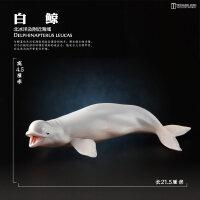 玩具仿真动物模型海洋生物鲨鱼鲸鱼海豚企鹅海龟摆件儿童A