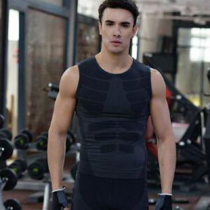 新款男士紧身运动背心塑身塑型衣轻压舒适透气速干衣MA16