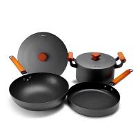 锅具组合炒锅汤锅电磁炉家用炒菜锅三件套厨具