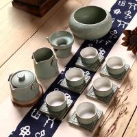 家用个性粗陶复古功夫茶具整套装办公室创意茶杯陶瓷茶壶茶艺