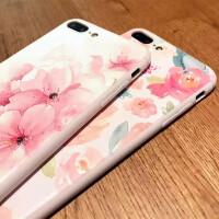 苹果iPhone7/7plus水彩花卉手机壳硅胶软壳保护套iPhone6/6plus个性艺术手机壳花卉手机壳 ipho