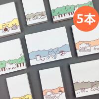 晨光便利贴韩国可爱卡通百事贴学生小清新优事贴 n次贴便签本可撕