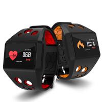 心率监测运动计步深度防水久坐提醒来电信息同步智能运动手环