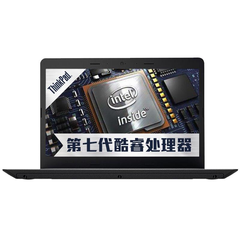 联想(ThinkPad)轻薄系列E470(20H1A01FCD)14英寸笔记本电脑(i3-7100U 4G 500G NV920 2G独显 Win10)黑色爆款直降  全新上市7代i3  2G独显超值本!