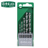老A(LAOA) 5件套钻头 麻花钻 打孔钻头套装 单盒价