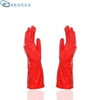 橡胶手套 加绒保暖花袖长袖短袖清洁乳胶/橡胶/胶皮长款手套