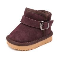 冬季儿童靴子1-3岁女童小童鞋婴儿棉鞋加绒马丁靴宝宝雪地靴男童6