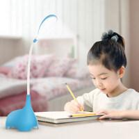【支持礼品卡】可充电护眼台灯卧室床头宿舍创意LED护眼灯儿童学生可爱卡通小象 6pc