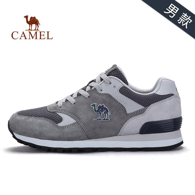 骆驼运动鞋 男女跑步鞋子春夏 休闲户外情侣复古跑步鞋子男鞋