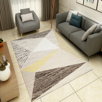 北欧风格几何图案印花防滑地毯长方形门厅客厅地毯家用绒面毯水洗 2.0*3.0米【耐磨抗脏 可水洗 】